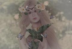 Almagris~FlowerGarden (Skip Staheli (Clientlist closed)) Tags: almagrisresident yeriakthcouturier model contest avatar virtualworld skipstaheli secondlife sl fashion dreamy flowers butterflies digitalpainting romantic