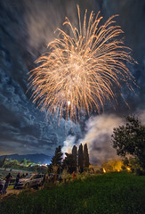 Fireworks (Riccardo Malorni - The Light Hunter) Tags: travel trees light summer sky people italy beautiful cemetery grass festival fog night clouds landscape long exposure italia nightscape fireworks smoke awesome watching explosion natura boom willow festa cascade cypresses hdr molise fuochidartificio sallow venafro sannicandro nicandro