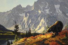 Leigh Lake Berrypicker (detail), Greg McHuron , (V. C. Wald) Tags: jacksonhole grandtetonnationalpark wildlifeart jacksonwyoming nationalmuseumofwildlifeart gregmchuron leighlakeberrypicker