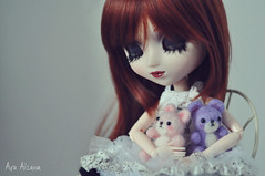 Lilith (Açu Aizawa) Tags: pullip hnaoto adsiltia hjelly hfrill japanese fashion doll lolita teddybear needlefelting wool felt mascot handmade