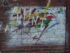 BUNT (mkorsakov) Tags: mnster city innenstadt graffiti tagging bunt colored wand wall fingerfarbe fingerpaint