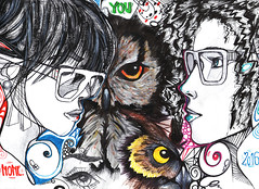 You. (nonesense69) Tags: graffiti graff people drawing cartoon whitebackground characters design portrait owl shapes geometry curly sunglasses eye pencil sketch sketchbook draw art artist none 2016 pencildrawing pen acrylics acryl