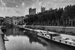 Canal de la Robine (John fae Fife) Tags: fujifilmx canal noiretblanc bziers canaldelarobine blackandwhite xt1 monochrome nb bw france