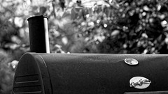 BW BBQ (timbo on the hill) Tags: nikond7000 summer story indiana remedyranch usa 2016 bbq bw chargriller