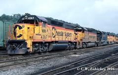 WM 4367 on 9-3-79 (C.W. Lahickey) Tags: wm emd gp402 connellsville