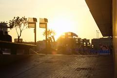 - Sunset over the city - (louisrigaud) Tags: travel lovemycity port beautifulday street barcelona city sunset