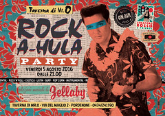 rock-a-hula-party (Zellaby) Tags: zellaby party elvis hawaiian collage poster flyer pordenone rockandroll tavernadimro popcorn exotica surf