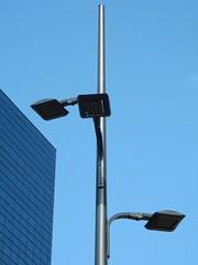 Three headed lamppost (sander_sloots) Tags: threeofakind lamppost cree betaled lantaarnpaal lichtmast rotterdam ledverlichting armaturen armatuur openbareverlichting straatverlichting delftsepoort lampadaire luminaire streetlamp streetlight leuchte ledway theedge