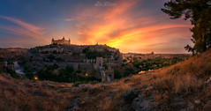 Otro Toledo (Ivn F.) Tags: toledo toletum castilla la mancha pano panorama panoramic panoramica old ancient ciudad imperial alcazar catedral tajo rio river atardecer sundown sunset colour clod cloudy nubes warm grass light dark beautiful nikon d800e tamron 1530mm rollei 200 landscape landscapes urban exploration cityscape spain espaa turismo visitspain leyendas explore explorer travel photo flickr