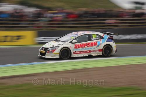 Matt Simpson in BTCC race 2 during the Knockhill Weekend 2016