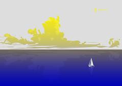 calma piatta (http://www.agatti.com) Tags: calma piatta dead calm sea mare tavola flat acqua water global market horizon orizzonte nuvole clouds sailship boat central bank banca centrale stasi standstill eurozone eurozona currency trade