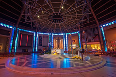 Liverpool Metropolitan Cathedral - interior (bvi4092) Tags: d300s nikon worship liverpool church cathedral sigma sigma1020 liverpoolmetropolitancathedral interior altar light architecture 18105mm f3556 city building religion sky inside
