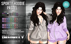 !NFINITY Sporty Hoodie - PASTEL (infinity.owner) Tags: buynowsl buy now sl second life october nfinity sporty hoodie mesh apparel women woman female belleza maitreya slink physique hourglass venus isis freya avatar monthly