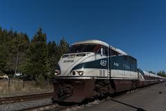Amtrak Cascades (Tom Trent) Tags: amtrak amtrakcascades eugene depot passenger train f59phi emd diesel locomotive talgo rail