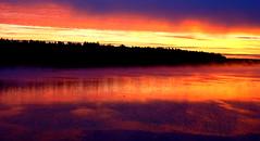 Sunrise on the Volga Yaroslavl Oblast Russia (Ray .) Tags: yaroslavl russia yarslavloblast sunriseyarslavloblastrussia volga volgariver mothervolga sunrise morning river boat ruralrussia day fire fog quiet still explore