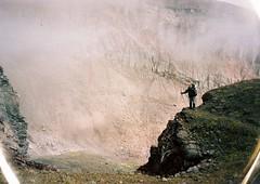 (Nikolay Kulivets) Tags: 35mm film olympusmjuii mjuii kodak georgia landcape man kazbek caucaus alpinism mountain rocks fog