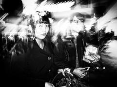 Tokyo Flash Night (MT...) Tags: street blackandwhite bw monochrome night tokyo candid flash
