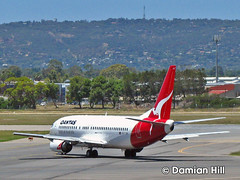 Qantas VH-TJM Boeing 737, Adelaide Airport (baytram366) Tags: new travel fly airport air lounge airplanes flight virgin international zealand planes adelaide qantas rex departures onboard arrivals