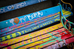 Ceci n'est pas une..., Wellington, New Zealand (TV DiSKO) Tags: bench wellington victoriauniversityofwellington