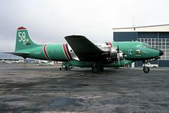 Buffalo Airways DC-4 C-GCTF 12May2000 (Peter M Garwood) Tags: canada aircraft nwt northwestterritories douglas yellowknife dc4 propliner buffaloairways skytruck cgtcf