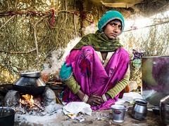 Wife of Baba, Village near Pushkar - Rajasthan (adde adesokan) Tags: street travel people india photography asia streetphotography olympus zuiko rajasthan omd em1 mft microfourthirds