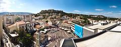 A for panoramA (amfipolos) Tags: roof summer sky panorama photoshop pano sunny 360 athens panoramic 180 greece acropolis stitched sonycybershot monastiraki flatroof aforathens