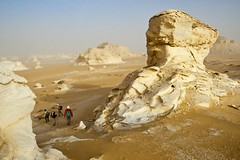42-30963792 (gaber.mahmoud79) Tags: africa travel sky people tourism sahara rock outdoors desert hiking group egypt middleeast dry tourist few maghreb daytime groupofpeople arid clearsky rockformation westernsahara eroding northernafrica whitedesert libyandesert alwadialjadidgovernorate egyptdesertregion