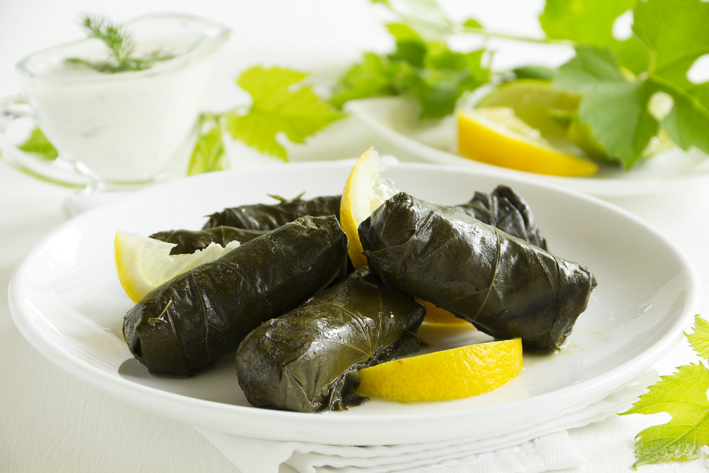 dolma, stuffed grape leaves, turkish and by lesya761, on Flickr