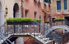 Bridges over a canal, Venice