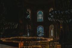 Lighting (Jeremy Brooks) Tags: lighting windows window turkey lights stainedglass istanbul chandelier hagiasofia