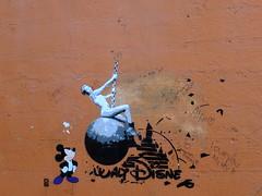 Wrecking the House of Mouse (failing_angel) Tags: london stencil disney hammersmith graffito hammersmithapollo carlingapollo artdecoarchitecture hammersmithfulham mileycyrus labattsapollo 140815 robertcrombie gaumontpalacecinema eventimapollo