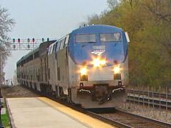Back by my Home Rail. (Chicago Rail Head) Tags: bnsf railroad zoostop brookfieldillinois fieldtrip goinghome gradeschool waitingforthetrain amtrak brookfieldil