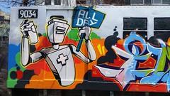 20150422_130302 (bg183tatscru@hotmail.com) Tags: train robot mural canvas artists mta 1980 spraycan robo tatscru southbronx graffititrain bg183 graffitimural muralkings graffiticanvas bestartists graffitiwalls bestgraffiti graffiticanvases bg183tatscru wallworkny expensivecanvases expensivegraffiticanvas