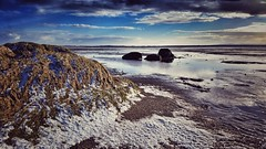 winter sky snow seascape beach nature water clouds... (Photo: Mark.L.Sutherland on Flickr)
