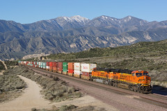 BNSF 7455 Cajon C.A (Gridboy56) Tags: california ca railroad usa america gm trains locomotive railways bnsf locomotives cajon containers emd doublestack cajonpass 7630 7455 7456 7947 railfreight