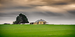 Empty house with tree (RWYoung Images) Tags: light sunset tree abandoned rain rural canon evening farm empty southaustralia maitland yorkepeninsula quantumentanglement rwyoung 5d3