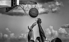 Skybound 2016 (Chuck LaChance) Tags: bw blackandwhite noiretblanc monochrome sport sports basketball hoop florida ocean summer
