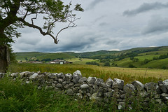 View towards Malham, Yorkshire Dales National Park (paulinuk99999 - just no time :() Tags: paulinuk99999 malham yorkshire dales national park stone walls countryside green lush cloudy weather