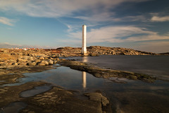 Pillar of History (diesmali) Tags: cker vstragtalandcounty sweden fot lighthouse sky clouds sea ocean rocks cliffs reflection archipelago canoneos6d canonef24105mmf4lisusm longexposure