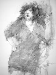 P1015303 (Gasheh) Tags: art painting drawing sketch portrait girl figure pencil pastel gasheh 2016