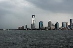 Hudson River Jersey City (Terese Loeb) Tags: skyscraper river newjersey jerseycity hudsonriver stormysky goldmansachs newyorkharbor
