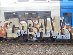048 (en-ri) Tags: coban 2016 train torino graffiti writing grigio marrone