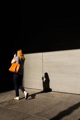 Street Cliche (mollyporter) Tags: back smoking shadow light girl strideby sowhat