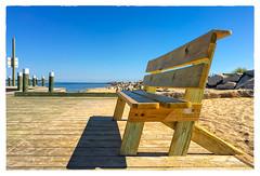 Ballard Beach Bench (Timothy Valentine) Tags: blockisland ocean bench 0816 2016 daytrip ballardbeach monday newshoreham rhodeisland unitedstates us