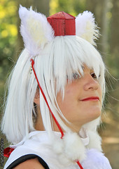 RinCosplay_003 (Ragnarok31) Tags: rin cosplay loup fort roseaux arbre japonais sabre