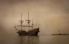 In The Mist (Dale Kincaid) Tags: sea mist fog sailboat boat ship vessel el spanish pirate transportation sail tall nautical navigation brume galleon galeon