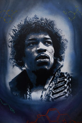 Jimmy Hendrix (HBA_JIJO) Tags: portrait music celebrity star stencil idol hendrix bergman musique pochoir musicien pochoiriste docteurbergman