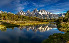 Grand Tetons Sunrise at Schwabacher's Landing (Cole Chase Photography) Tags: summer mountains sunrise canon reflections snakeriver wyoming grandteton grandtetonnationalpark eos5dmarkiii