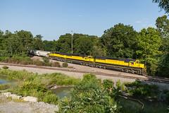 Crossing the NYGL (sullivan1985) Tags: railroad summer train newjersey nj july railway westbound yellowjacket susquehanna susieq emd pomptonlakes sd60 passaiccounty nysw newyorksusquehannawestern su99 pomptonjunction nysw3804 nysw3802 nysw3806