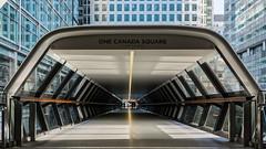 London   |   Adams Plaza Bridge (JB_1984) Tags: adamsplazabridge bridge tunnel walkway crossrailplace crossrail onecanadasquare tower skyscraper docklands canarywharf isleofdogs londonboroughoftowerhamlets london england uk unitedkingdom nikon d7100 nikond7100 explore explored